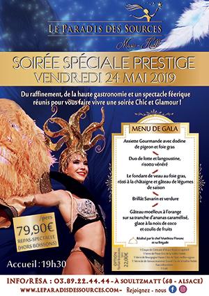 Soirée gastronomique en Alsace et spectacle en Alsace