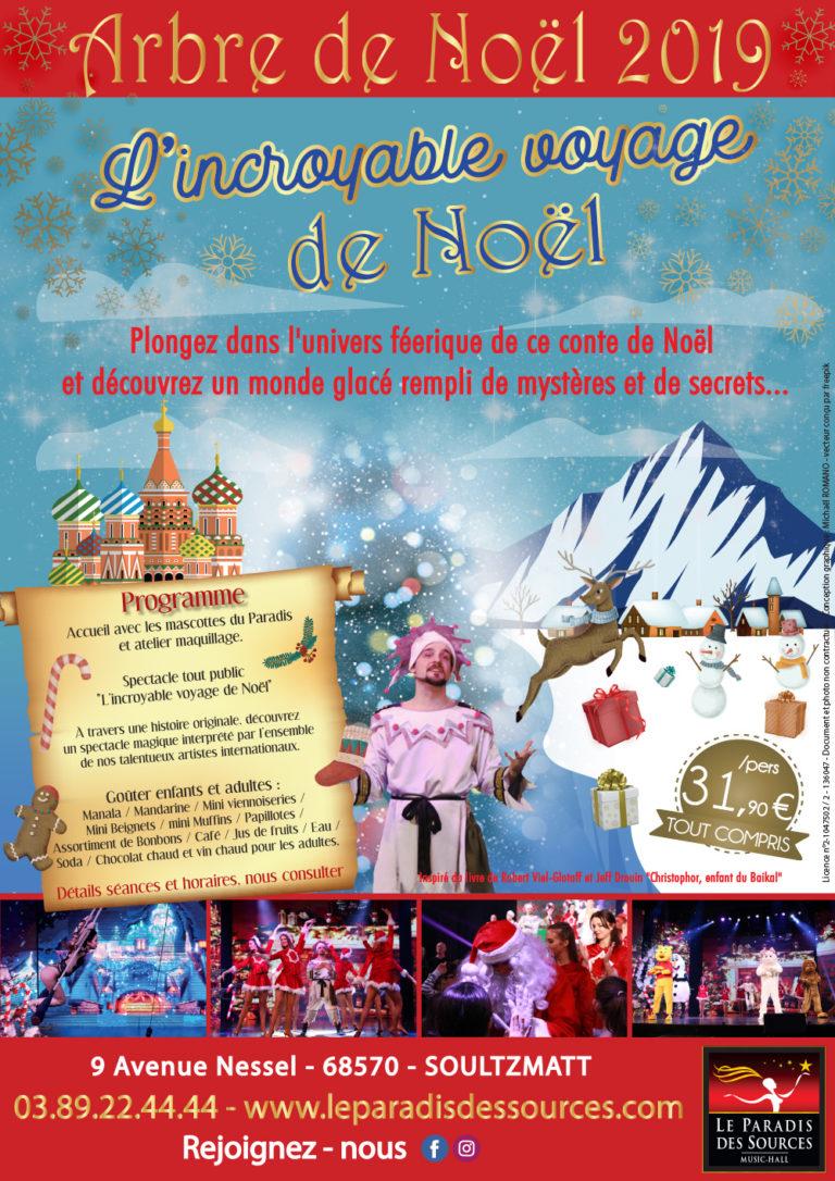 Arbre de Noël comité d'entreprise Alsace Spectacle de Noël